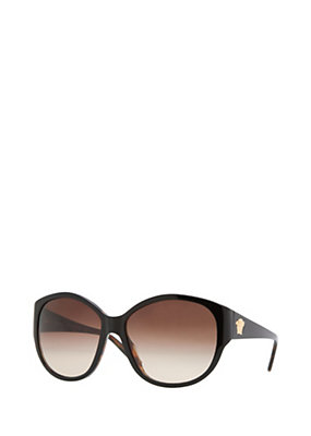 Versace Women Brown Oversized Retro Sunglasses