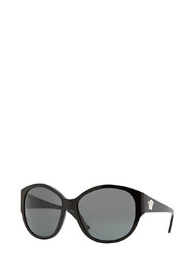 Versace Women Black Oversized Retro Sunglasses