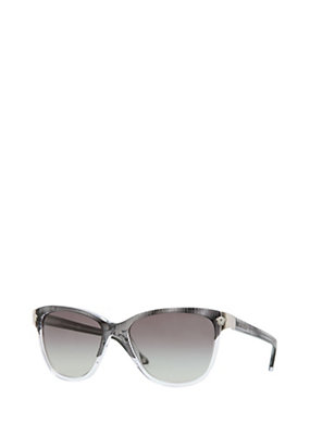Versace Women Grey Graphic Acetate Sunglasses