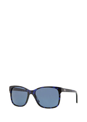 Versace Women Blue Acetate Horn Sunglasses