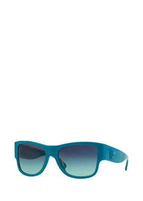 Versace Men Men Light Blue Squared Sunglasses