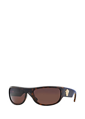 Versace Men Men Brown Wrap-Around Sunglasses
