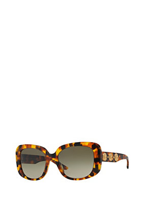 Versace Women Squared Sunglasses Havana
