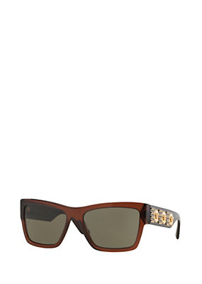Versace Men Men Havana glasses with 3 Medusas