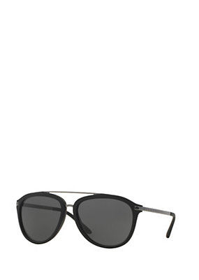 Versace Men Men Rounded Pilot Sunglasses