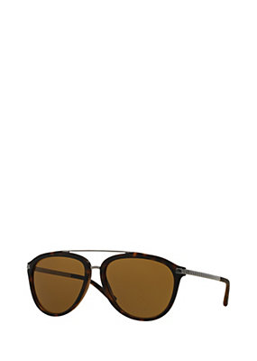 Versace Men Havana pilot sunglasses