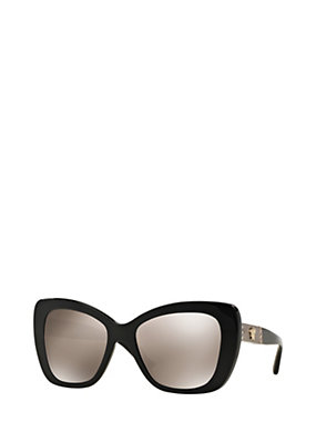 Versace Women Black mirror butterfly sunglasses