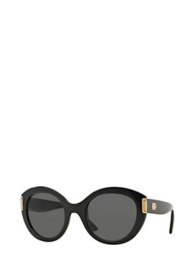 Versace Women Black rounded sunglasses
