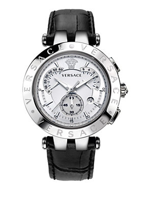 Versace Men Watches V Race 42mm White Deal