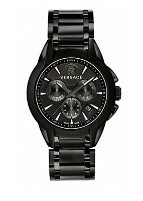 Versace Men Men Watches Black Character Chrono Quartz