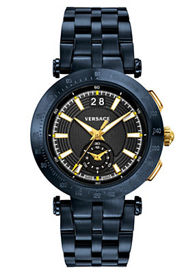 Versace Men Watches V-Race Sport Black Dial Watch