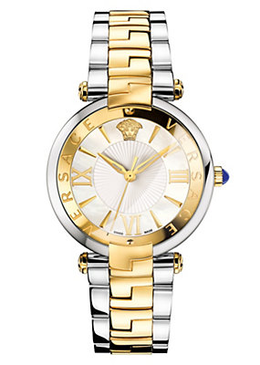 Versace Women Watches Rêvive White Dial Two-Tone Watch