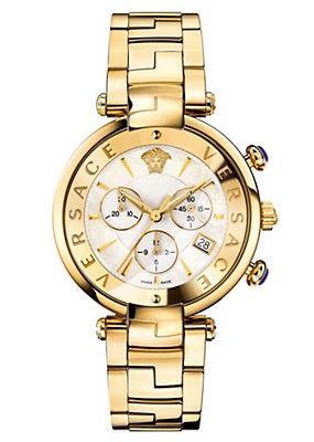 Versace Men Watches Rêvive Chrono White Dial Watch