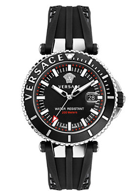 Versace Men Watches V-Race Diver Black Dial Watch
