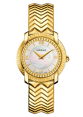 Versace Women Watches DV25 White Dial Bracelet Watch