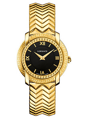 Versace Women Watches DV25 Black Dial Bracelet Watch