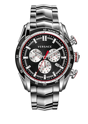 Versace Men Watches Black and steel V-RAY watch