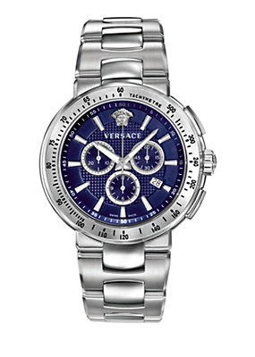 Versace Men Watches Mystique sport steel and blue