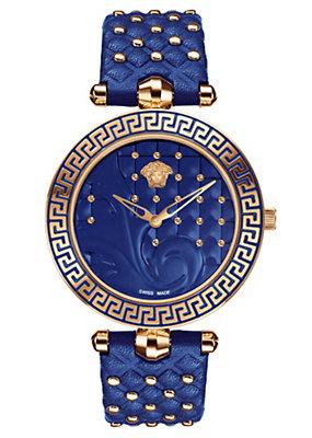 Versace Women Watches Vanitas Blue