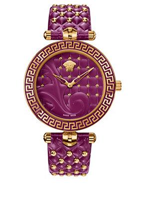 Versace Women Watches Vanitas Purple