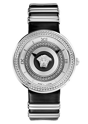 Versace Women Watches V-Metal Icon Black