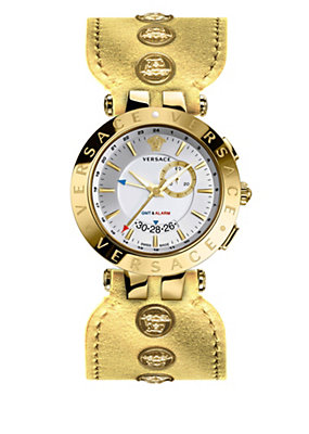 Versace Women Watches V-Race Gmt Gold Special Edition