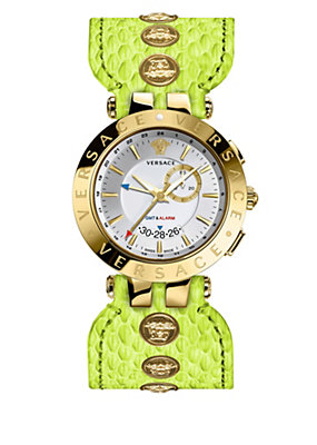 Versace Women Watches V-Race Gmt Green Special Edition