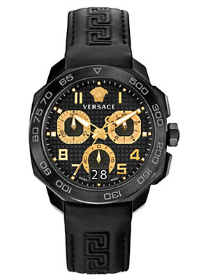 Versace Men Watches Dylos Chrono black and steel