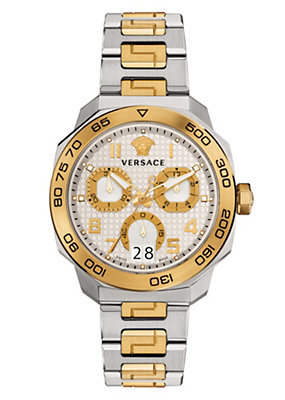 Versace Men Watches Dylos Chrono gold and steel