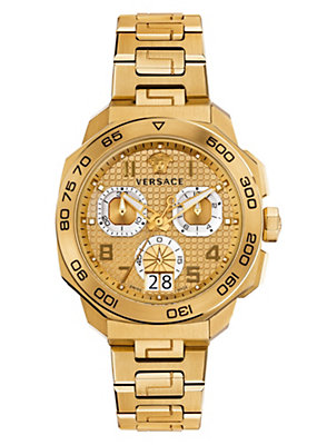 Versace Men Men Dylos Chrono Gold