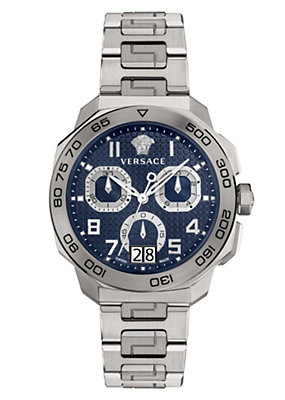 Versace Men Watches Dylos Chrono Blue Dial Watch
