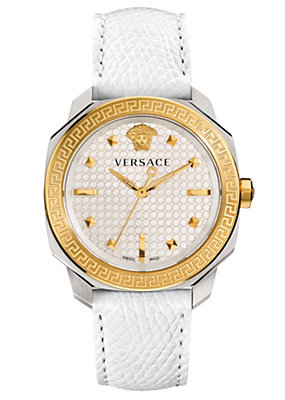 Versace Women Watches Dylos Lady white and gold