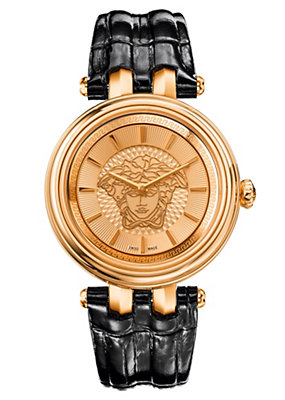 Versace Women Watches Khai watch with leather strap