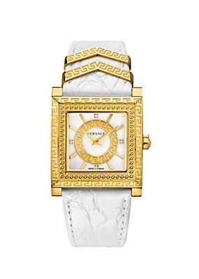 Versace Women Watches White and Gold DV-25