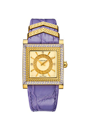 Versace Women Watches Lilac and Gold DV-25