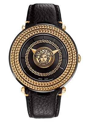 Versace Men Men Watches Black V-Metal Icon 46MM
