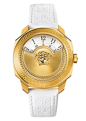 Versace Women Watches Dylos Icon Gold White Dial Watch