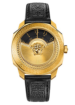 Versace Women Watches Dylos Icon Gold Black Dial Watch