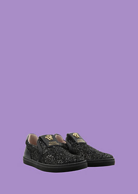 Young Versace Girls Slip-on with glitter coating