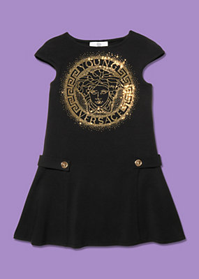 Young Versace Girls Dress with Medusa