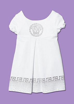 Young Versace Girls Summer Dress With Diamante Motif
