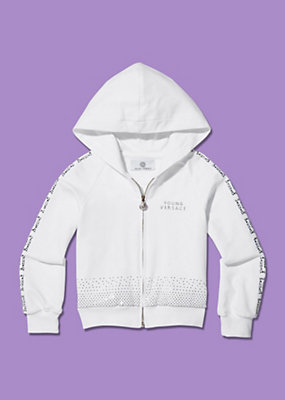 Young Versace Girls Diamante Hooded Jacket