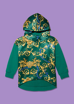 Young Versace Girls Hooded sweater in Barocco print