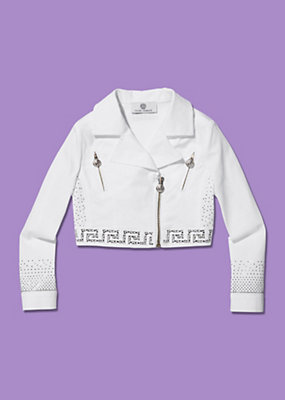 Young Versace Girls Lightweight Cropped Jacket