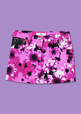 Young Versace Girls Floral Pattern Skirt