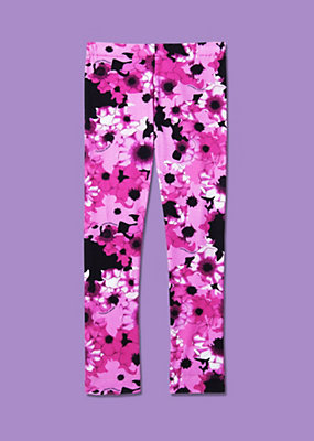 Young Versace Girls Floral Design Leggings