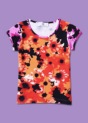 Young Versace Girls Floral Print Shirt