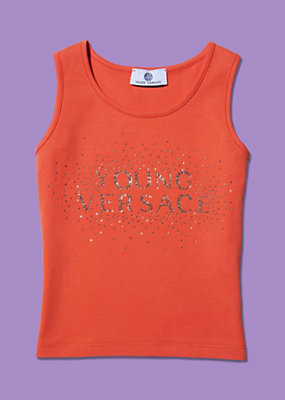 Young Versace Girls Sparkly Diamante Tank Top