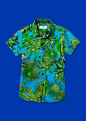 Young Versace Boys Tropical Print Shirt