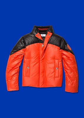 Young Versace Boys Two-tone zipped jacket